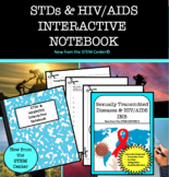 Sexually Transmitted Diseases & HIV/AIDS Health Interactive Notebook