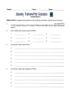 Sexually Transmitted Diseases (STDs) Lesson