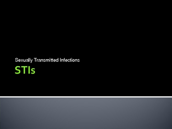 Sexually Transmitted Infections / Disease ( STI STD ) Presentation