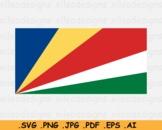 Seychelles National Flag Seychellois Country Cricut Print SVG EPS AI PNG JPG PDF