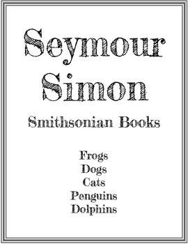 Seymour Simon Smithsonian Books Worksheet Packet
