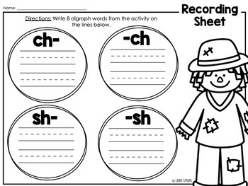 Halloween Sh And Ch Digraph Puzzle And Word Sort