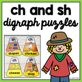 Fall Halloween Ch And Sh Digraph Puzzle Activity