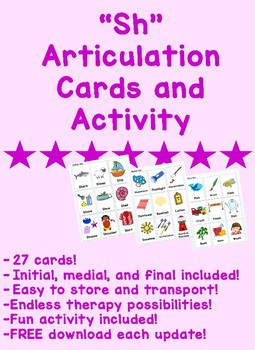 Sh Articulation Cards and Activity