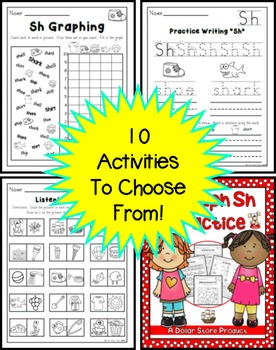 Sh Blend (Digraph) Practice Pack