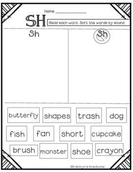 SH Digraph: Word Sort