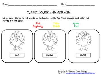 Sh-CH S-Z Turkey Sound Discrimination - Thanksgiving