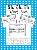 Sh, Ch, Th Word Sort