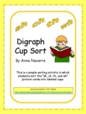 """Sh, Ch, Th, and Wh"" Digraph Cup Sort"