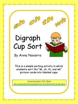 """""""Sh, Ch, Th, and Wh"""" Digraph Cup Sort"""