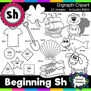 Sh Clipart - Beginning Digraph - sh, 20 images! For Personal and Commercial Use