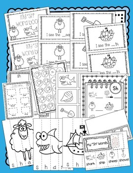 Sh Digraph Activities and Printables