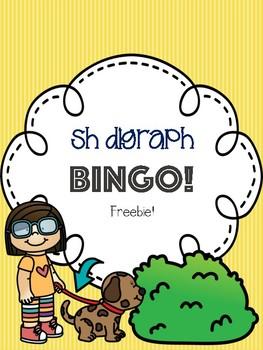 Sh Digraph Bingo Freebie! [5 playing cards]