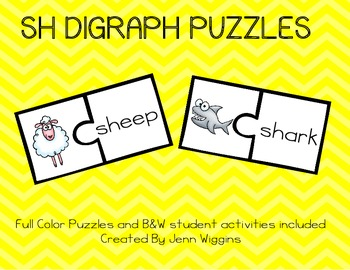 Sh Digraph Puzzles - 21 Puzzles Included Plus Follow Up Activities