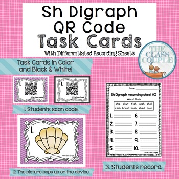 Sh Digraph QR Code Task Cards
