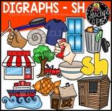 Digraph~SH Clip Art Bundle {Educlips Clipart}