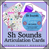 Sh Sounds - Articulation Cards with Visual Cues - Speech Therapy - All Positions