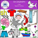 Sh Sounds (Digraph): Beginning Sounds Clip Art