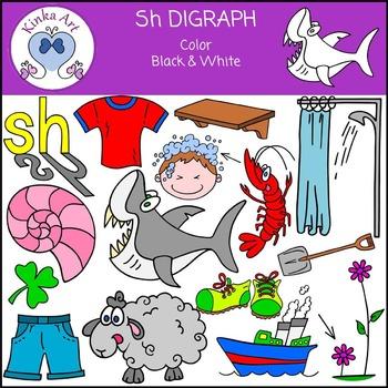 Sh Sounds (Digraph): Beginning Sounds Clip Art