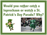 Sh/Th/Ch Artic Cards: Would you rather St. Patrick's Day Themed