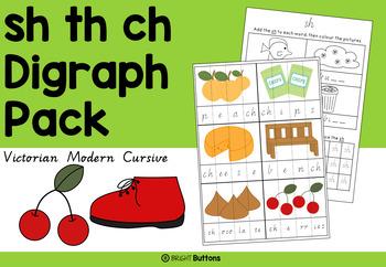 Sh Th Ch Digraph Pack - Victorian Modern Cursive