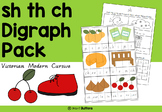 Digraph activities - Sh Th Ch - Victorian Modern Cursive