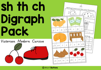 Digraph activities - Sh Th Ch - Victorian Modern Cursive