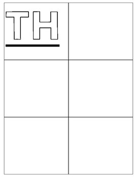 Sh/Th Digraph Word Work