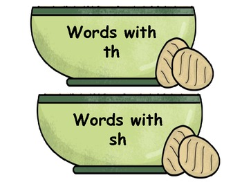 Sh, Th, Wh, and Ch Word Sort Center