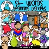 Sh Words Beginning Digraphs Clip Art Set