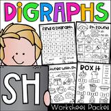 Sh Worksheet Packet - Digraphs Worksheets