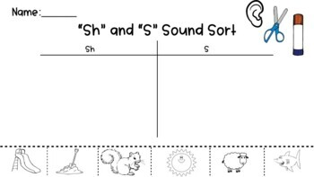 Sh and S Sound Sorts