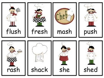 Sh and Th literacy Center Word Game