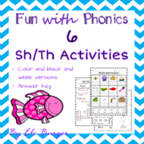 Sh and Th worksheets - Fun with Phonics!