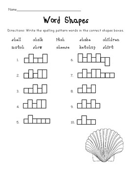 Sh, ch, and tch Worksheets