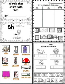 """Sh is for Shark (Digraph """"Sh"""" Word Work Unit)"""