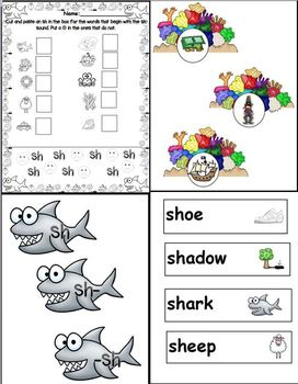 "Sh is for Shark (Digraph ""Sh"" Word Work Unit)"