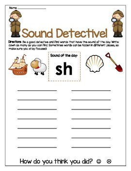 Sh sound Write The Room Worksheet