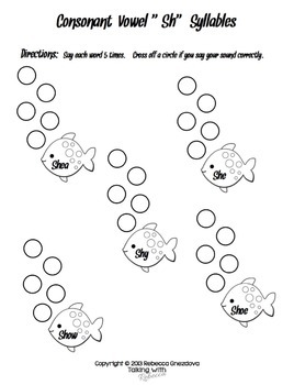 Sh Articulation Worksheets for All Word Positions