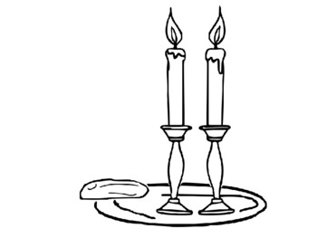 Shabbat Candles Coloring Picture By Steven S Social Studies Tpt