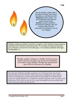 Shabbat Candles Source Book and Activities