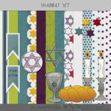 Shabbat Papers and Clip Art Digital Scrapbooking Supplies