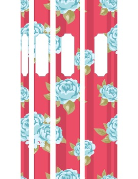 Shabby Blue Roses PRINTABLE Binder Covers & Inserts