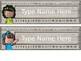 Shabby Bright Editable Nameplates (featuring Melonheadz Kidlettes)