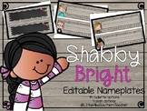 Shabby Bright Editable Nameplates (featuring Melonheadz Ki