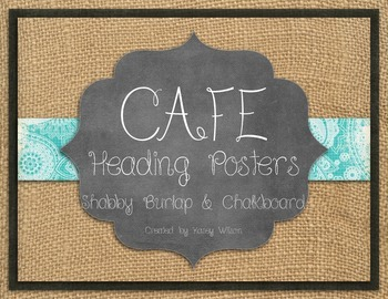 Shabby Burlap and Chalkboard CAFE Headers