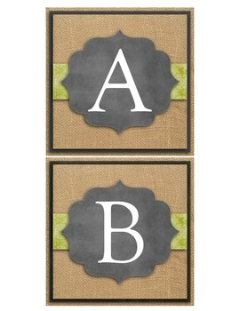 Shabby Burlap and Chalkboard Word Wall