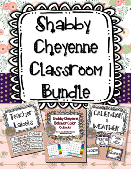 Shabby Cheyenne Classroom Decor & Management Tools Bundle