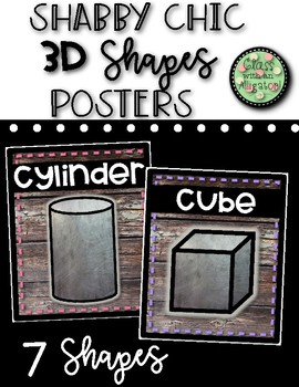 Shabby Chic 3D Shape Posters