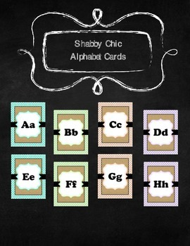 Shabby Chic Alphabet Cards